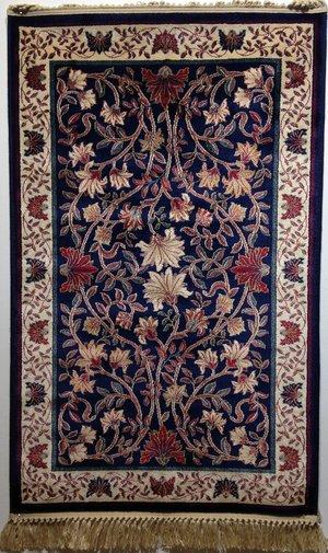Oriental Trädet mörkblå 100 x 140