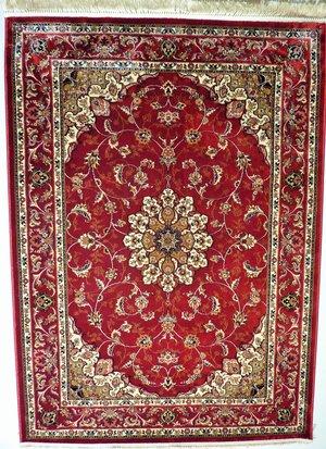 Keshan röd finns i 50 x 80, 67 x 105, 100 x 140, 120 x 170, 140 x 200, 200 x 280
