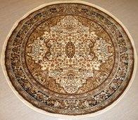 Gulden creme 120 x 120 cm rund, 150 x 150 cm rund