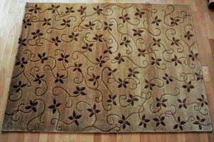 """Nepalmatta """"Flower"""" 140 x 200 beige/brun"""