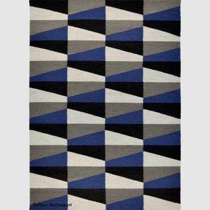 Roskilde  grå/blå 140 x 200